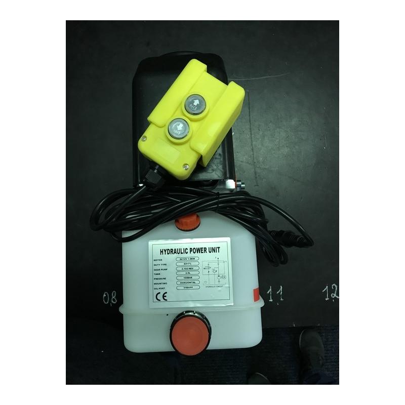 Mini powerpack for single acting cylinder, 12VDC, 2,1cc, 4,5L Tank, 160bar