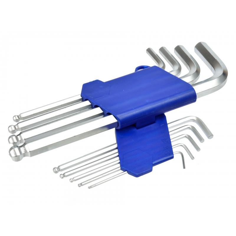 Шестигранный ключ 9шт Набор 1.5-10мм 190мм