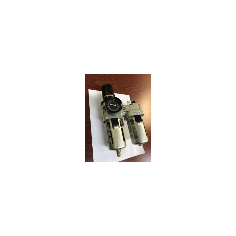 Pressure regulator with metal filter and oiler 1/4""
