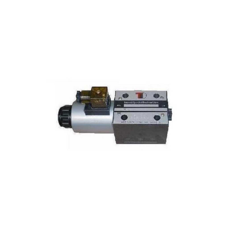 Electric valve NG6 CETOP3 12 V switchable, 0-position P and T seperated.