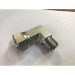 "Adapter 90°angle with nut 1/4"" inner-outer"