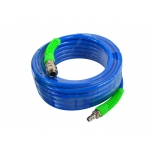 Compressed Air Hose (Reinforced - Blue) 12x8mm 10m Spherical Ends (male + female)