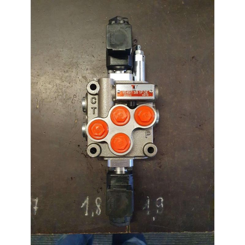 "Electrical valve 3/8 ""12VDC 45l / min 1 section"