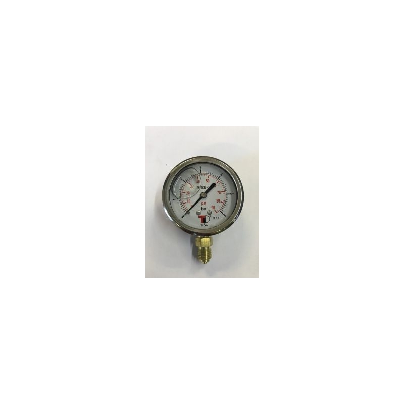 Pressure gauge (with glycerin) 25bar