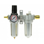 Compressed air regulator with quick connections 1/2 ""
