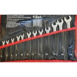 Satin Finish Combination Wrench Spanner Set 6-22mm 12pcs (Storage Roll)