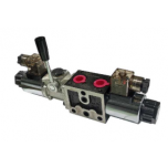 Series Solenoid Valve with lever Spool No. 6 NG6 12VDC YEAT