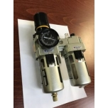 Pressure regulator with metal filter and oiler 1 ""