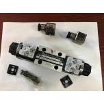 Elektriline klapp NG6 CETOP3 24 V ümberlülitav, 0-asendis A, B ja T koos, P lahutatud